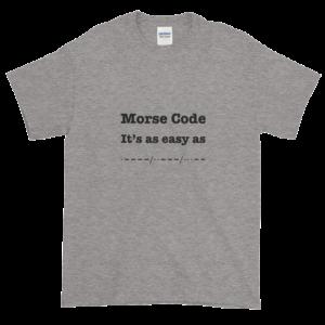 Morse Code Grey